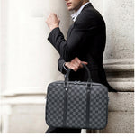 Load image into Gallery viewer, E3466 Luxury custom gift executive laptop mens leather briefcase handbag laptop bag
