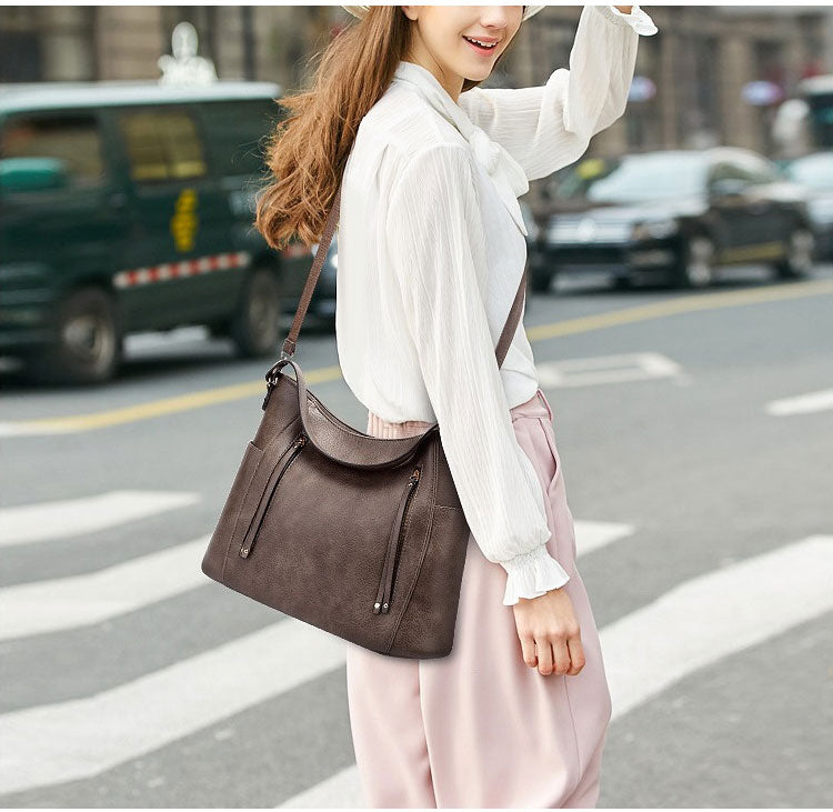 E3489 Hot sale vintage PU leather shoulder hand bags handbags for women lady