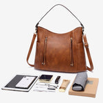 Load image into Gallery viewer, E3489 Hot sale vintage PU leather shoulder hand bags handbags for women lady
