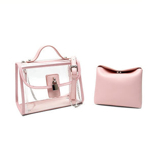 E3494 Fashion cheap ladies PVC clear hand bags women handbags transparent