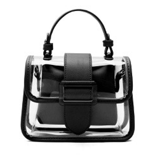 E3495 New style 2020 women small hand bag clear pvc handbags transparent