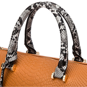 E3505 Wholesale classic snakeskin pattern designer boston bag women fashion handbags
