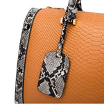 Load image into Gallery viewer, E3505 Wholesale classic snakeskin pattern designer boston bag women fashion handbags