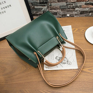 E3529 Pure color large capacity pu leather women cross body shoulder bags plain handbags