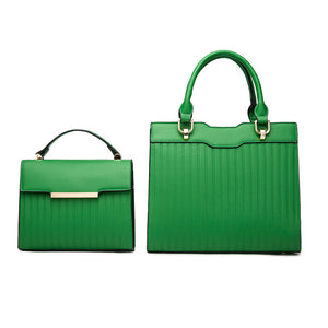 E3542 New arrivals 2020 pu leather golden 2 in 1 handbags for women designers