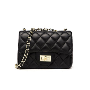 EC056 Hot sale korean style black patent rhombic crossbody shoulder bag women handbags