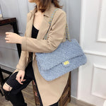 Load image into Gallery viewer, EF009 New arrival fashion high capacity ladies chain bags faux fur handbag