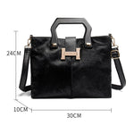 Load image into Gallery viewer, EF017 Winter series of advanced horsehair with cowhide handbag shoulder bag for ladies handbags