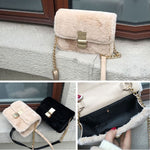 Load image into Gallery viewer, EF018 China supplier new 2020 fashion fluffy handbag sling bags for women girls