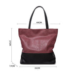 Load image into Gallery viewer, EG034 Vintage large pu leather shoulder handbags office hand bags for women
