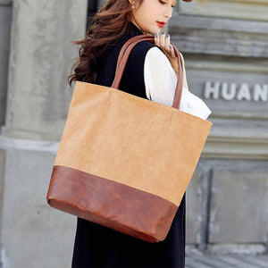 EG034 Vintage large pu leather shoulder handbags office hand bags for women