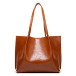 Load image into Gallery viewer, EG035 Fashion large quality women bag Oil wax pu leather ladies office handbags black
