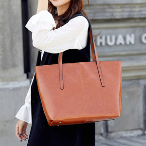 EG036 High quality fashion PU shoulder bag women large brown handbags oem