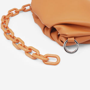 EG042 Custom korean cloud handbag chain shoulder bags dumpling bag women