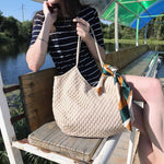 Load image into Gallery viewer, EG048 Wholesale summer high quality mesh beach bag handbags for women canvas
