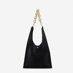 Load image into Gallery viewer, EG049 New fashion design casual pu leather women chain handbags black