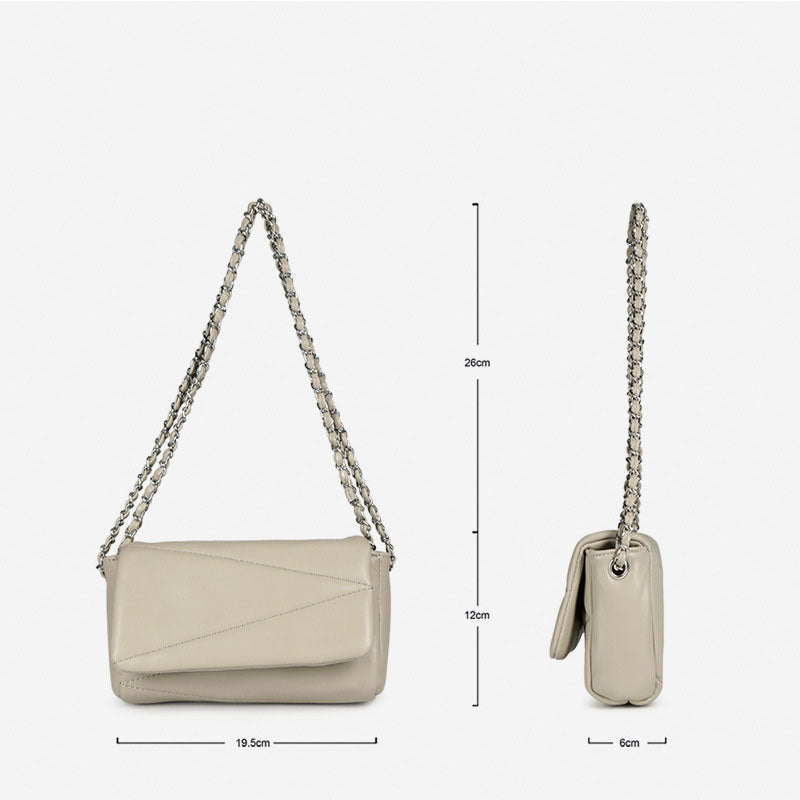 EG054 Wholesale pu leather fashion handbag quilted chain bag women shoulder