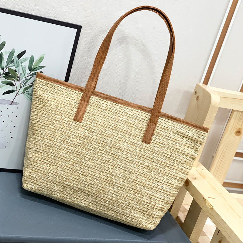 EG059 Online Shopping large summer straw custom beach bag 2020