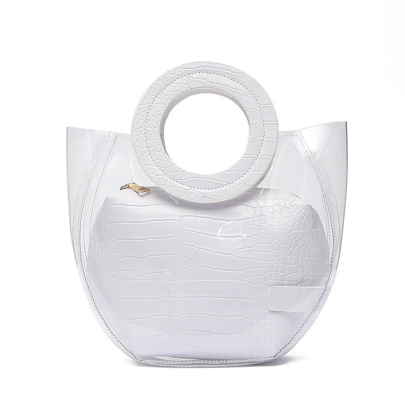 EG061 Summer cute pvc jelly bag transparent handbags women