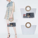 Load image into Gallery viewer, EG062 Transparent beach jelly handbag women pvc custom clear tote bag