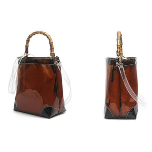 EG064 Online shop women 2 in 1 pvc jelly bucket bag clear purses and handbags