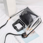 Load image into Gallery viewer, EG067 Korean fashion pvc jelly transparent bags women handbags