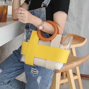 EG071 Casual women PVC transparent jelly bag purses and handbags clear