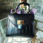 Load image into Gallery viewer, EG075 Wholesale price classical pu ladies mini crocodile handbag black