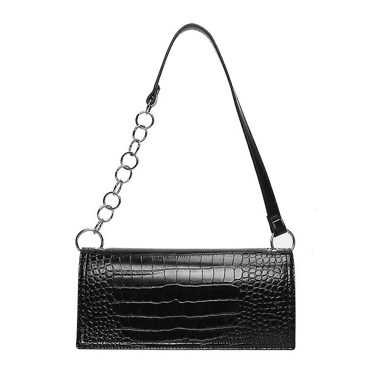 EG077 Crocodile pattern luxury crossbody shoulder handbag underarm bag