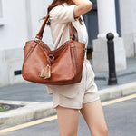 Load image into Gallery viewer, EG087 Trendy tassel design women fashion hand bags classy handbags ladys