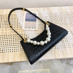 Load image into Gallery viewer, EG091 New 2020 fashion crocodile design pearl handle crossbody bag purse women handbag