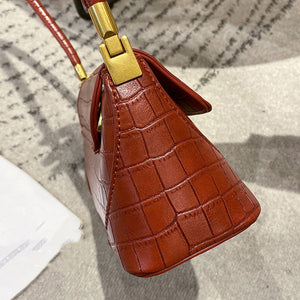 EG093 Fashion crocodile pattern pu leather small purses handbags french armpit bag