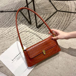 Load image into Gallery viewer, EG093 Fashion crocodile pattern pu leather small purses handbags french armpit bag