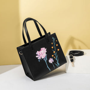 EG099 New arrivals tote bag flower print handbags for women