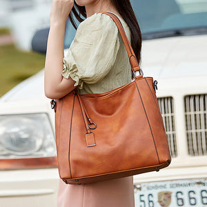 EG126 Fashion vegetarian PU leather large capacity shoulder handbag