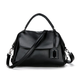EG128 Factory wholesale black vintage customized logo handbags for women