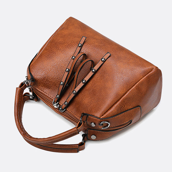 EG130 Casual elegant pu leather crossbody handbags women custom hand bags with logo