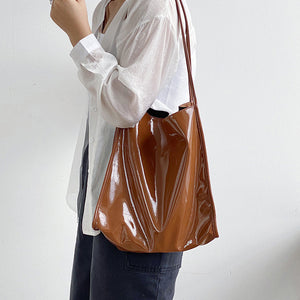 EG141 New 2020 trending PU leather fall winter waterproof tote handbags for women