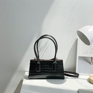 Eg144 Female Simple Crocodile Shoulder Purse Underarm Crossbody Bag party Armpit Women Baguette Handbag