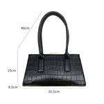 Load image into Gallery viewer, Eg144 Female Simple Crocodile Shoulder Purse Underarm Crossbody Bag party Armpit Women Baguette Handbag