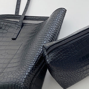 EG148 Trending elegant pu crocodile handbag 2020 new women hand bags wholesale