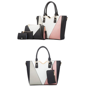 EG153 2021 New luxury designer pu leather ladies hand bags set 4 in 1 handbags for women