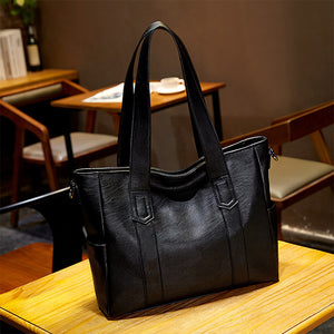 EG199 Fashion custom logo black hand bag large shoulder handbags for women 2021