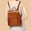 EGL002 New fashion wholesale oil wax custom genuine leather backpack women