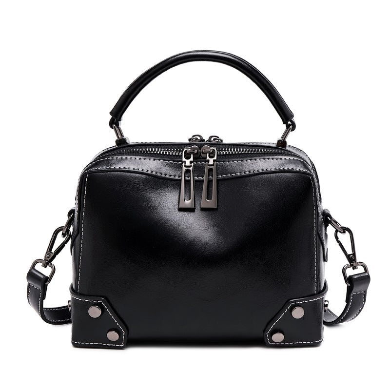 EGL004 Custom logo european and american style casual real leather women shoulder handbags bag