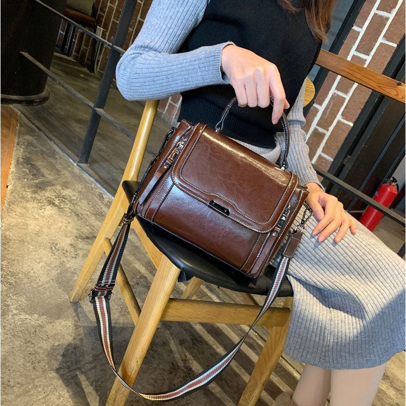 EGL005 New arrivals women oil wax handbags fashion genuine leather bags manufacturers