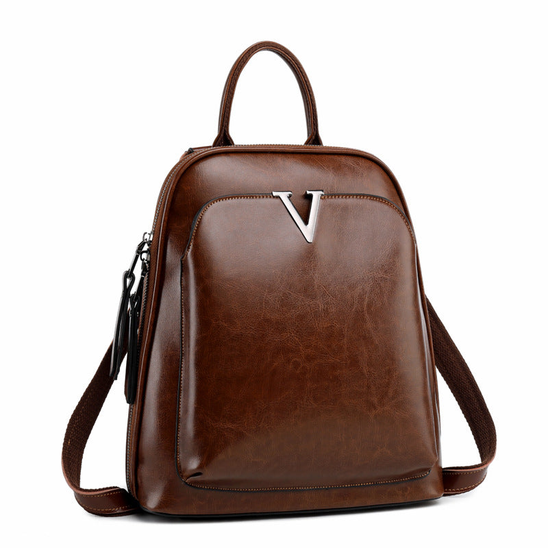 EGL011 Casual fashion genuine leather back pack wholesale backpacks women