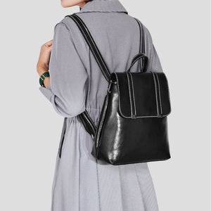 EGL013 Custom fashion ladies back pack travel women backpack leather