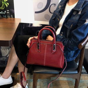 EGL014 New 2020 fashion high quality cow leather casual handbags for women