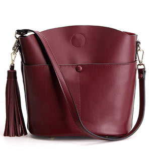EGL058 Wholesale leather lady handbags wholesale trendy crossbody bag with tassel